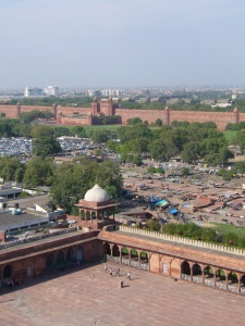 Angle Tower view of Red Fort