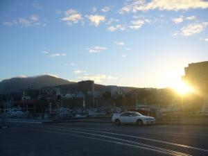 Mount Wellington at sunset