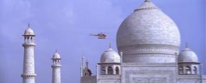 Taj Mahal helicopter