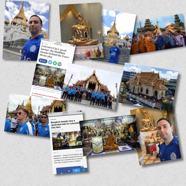 A collage of my pics mixed in with the media reports and photos from when the club visited the temple